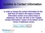 updates to contact information