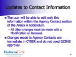 updates to contact information1