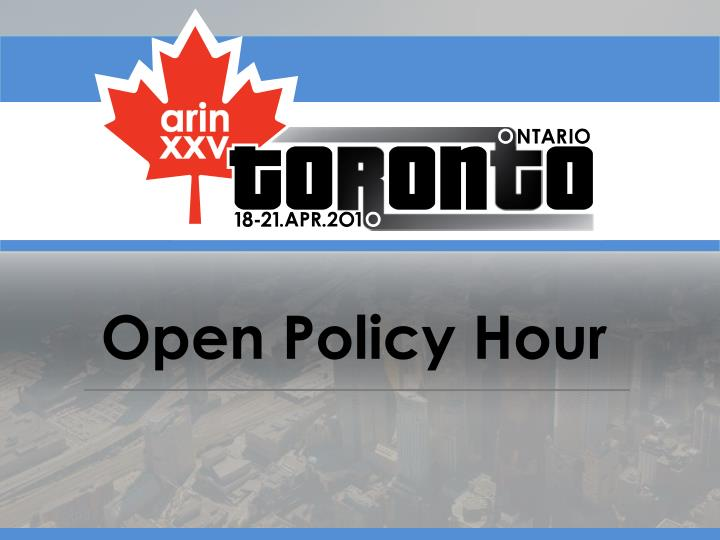 open policy hour n.