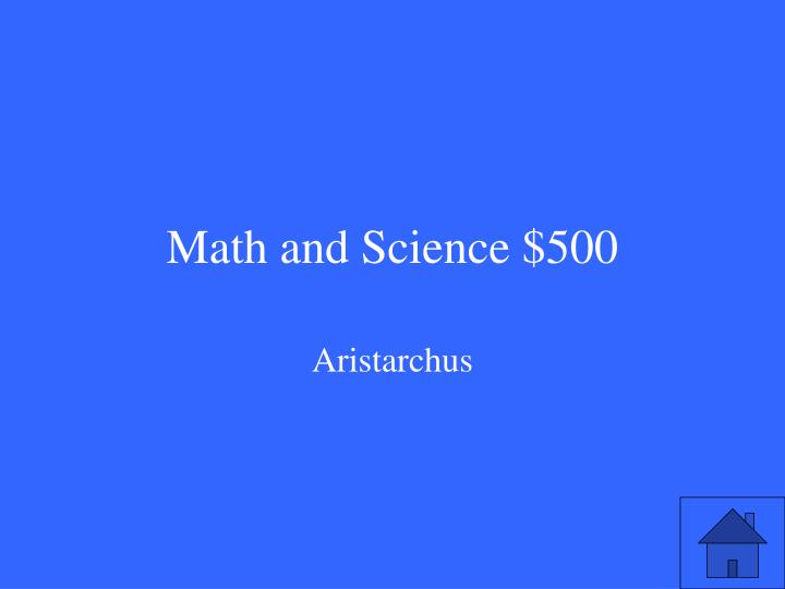 Math and Science $500