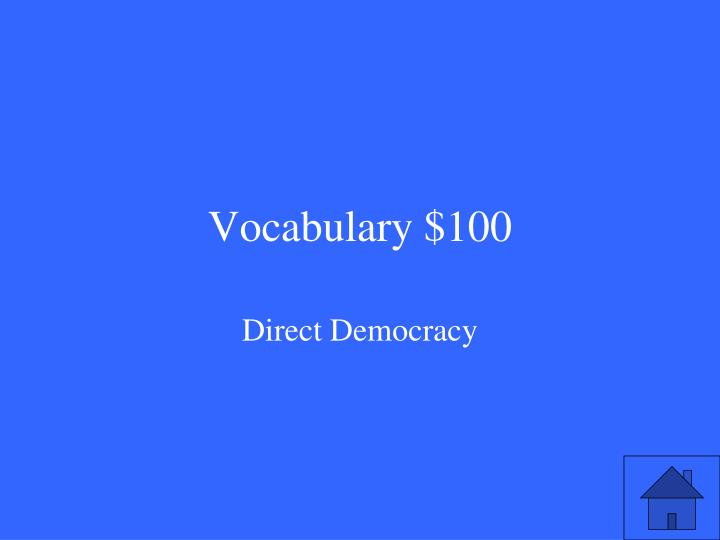 Vocabulary $100