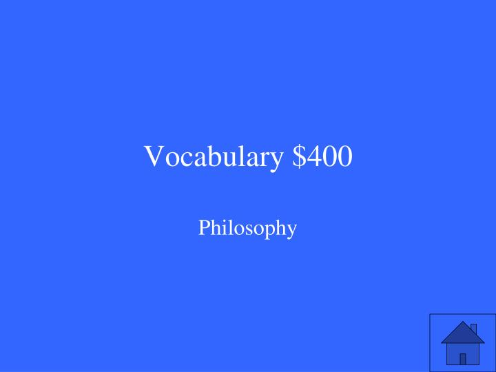 Vocabulary $400