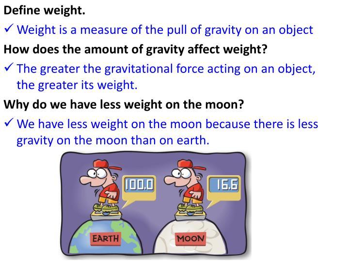 Define weight.