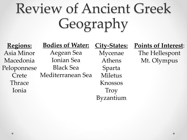 Review of Ancient Greek Geography