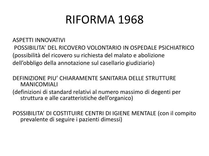 RIFORMA 1968