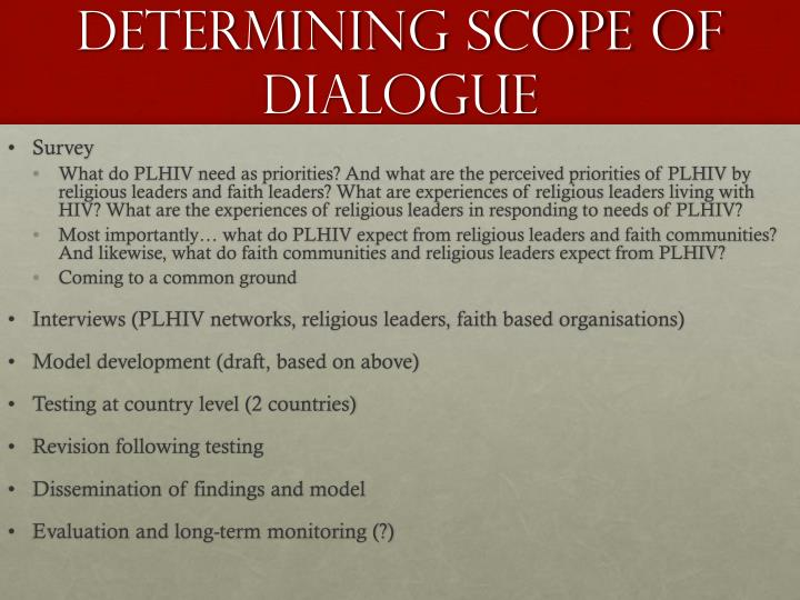 Determining scope of dialogue