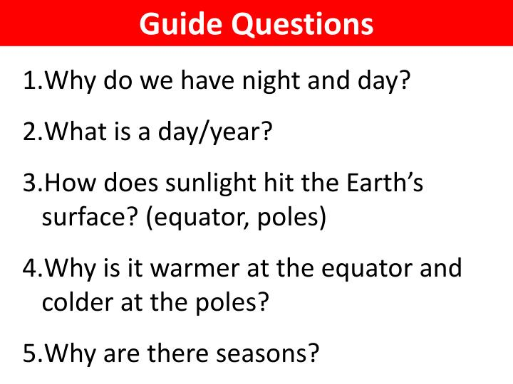 Guide Questions