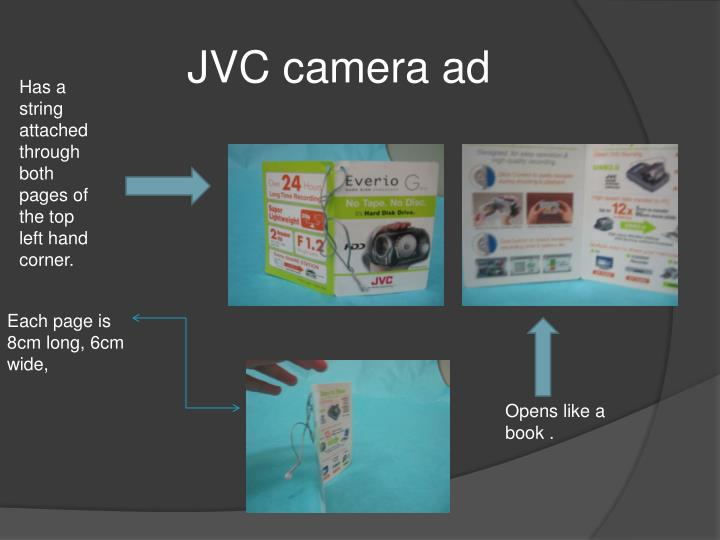 JVC camera ad