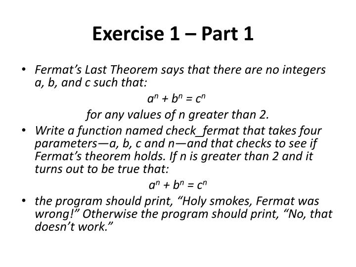 Exercise 1 part 1