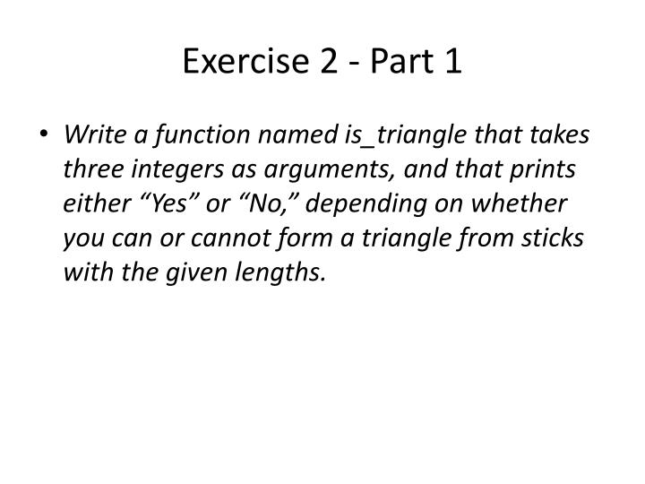 Exercise 2 - Part 1