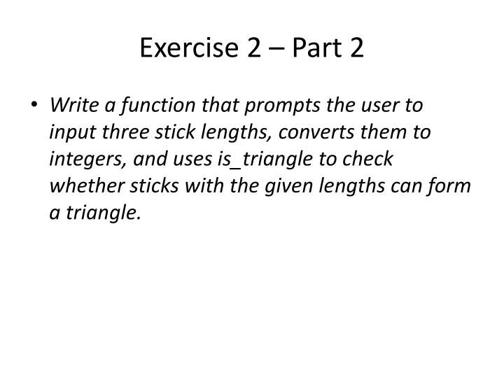 Exercise 2 – Part 2