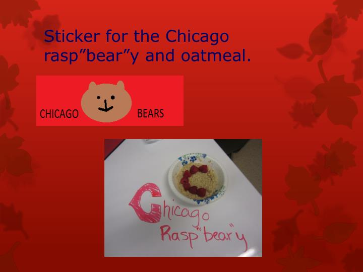 Sticker for the Chicago