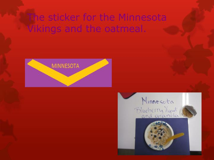 The sticker for the Minnesota