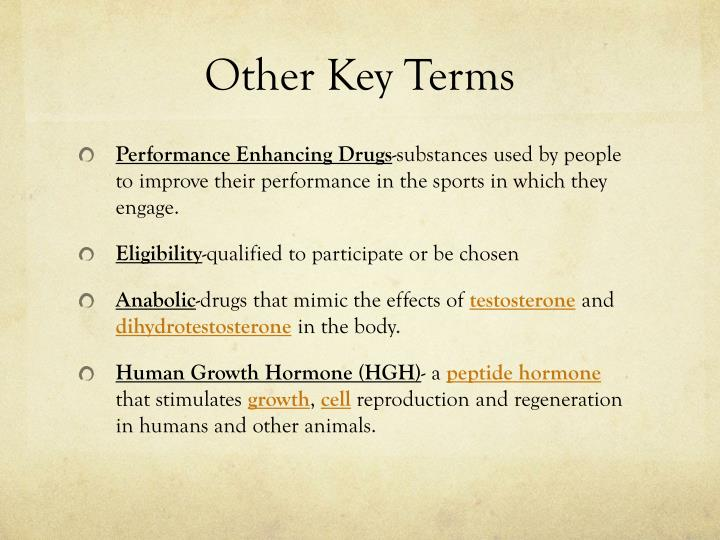 Other Key Terms