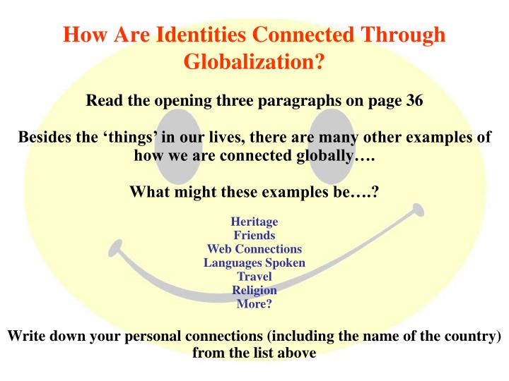 How Are Identities Connected Through Globalization?