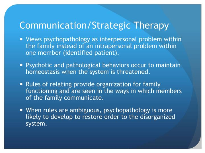 Communication/Strategic Therapy
