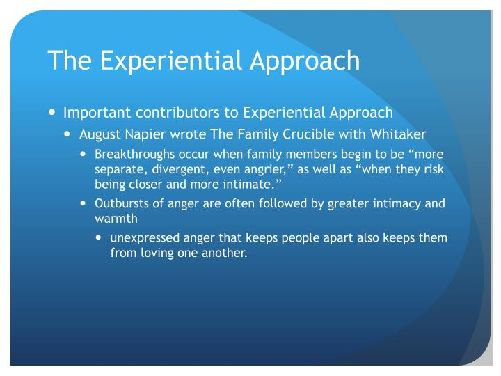 The Experiential Approach