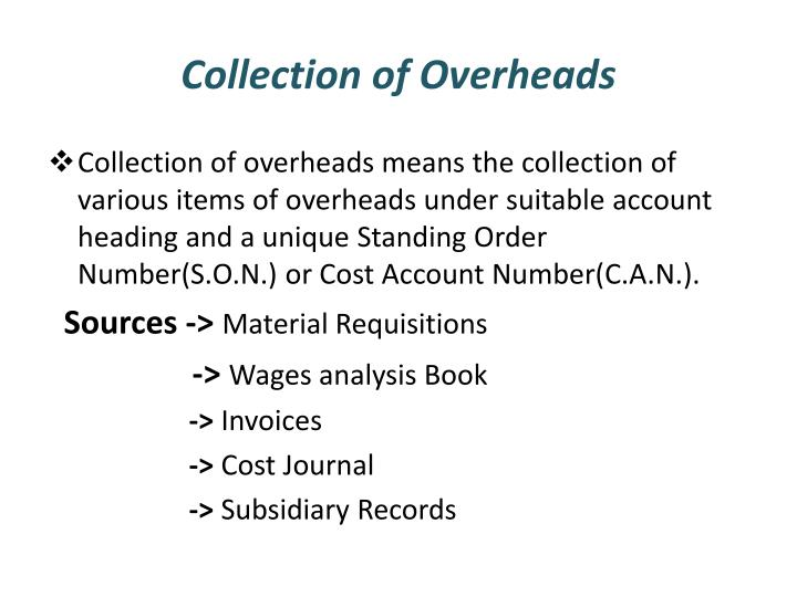 Collection of Overheads