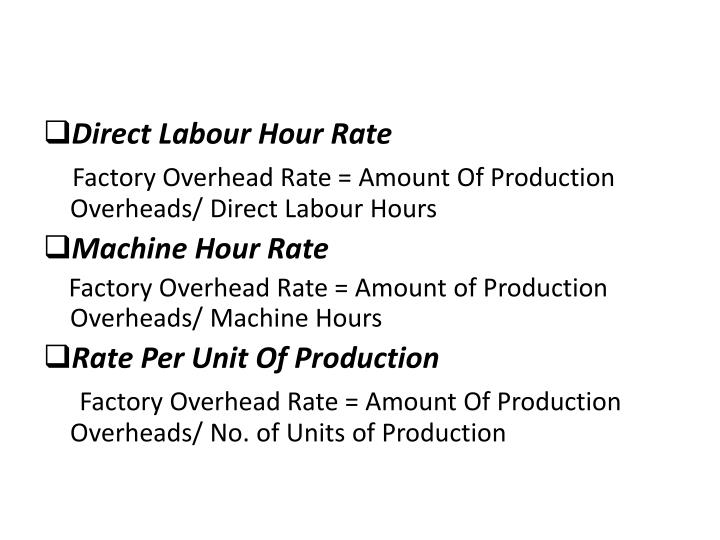 Direct Labour Hour Rate