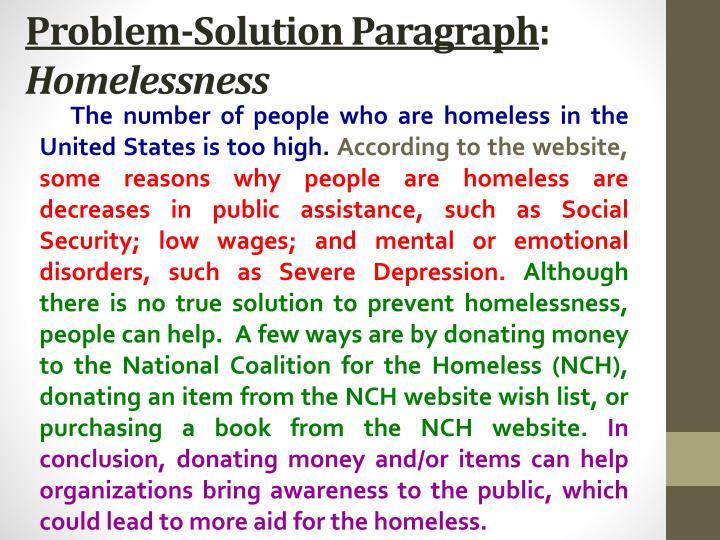 Homeless people essay