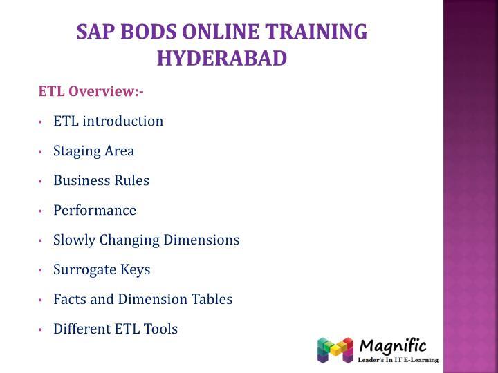 Sap bods online training Hyderabad