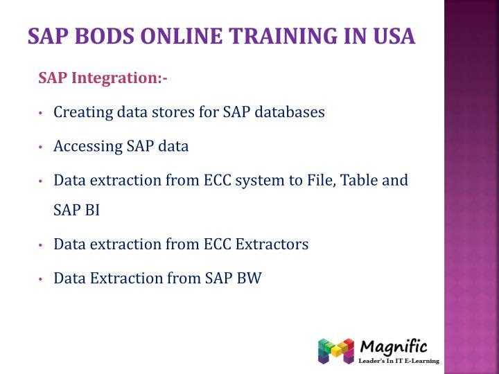 Sap bods online training in usa