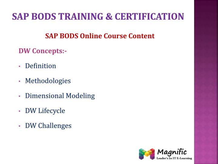 Sap bods training certification
