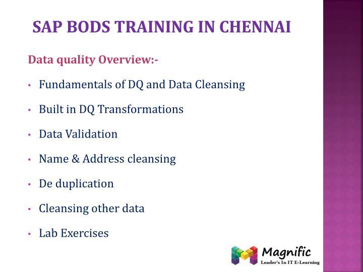 Sap bods training in Chennai