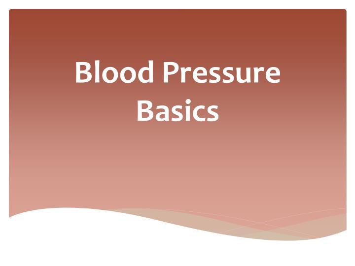 Blood pressure basics
