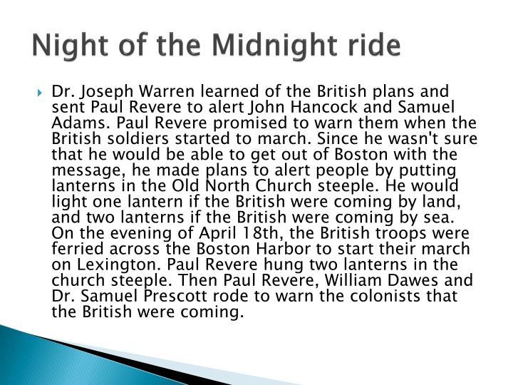 Night of the Midnight ride