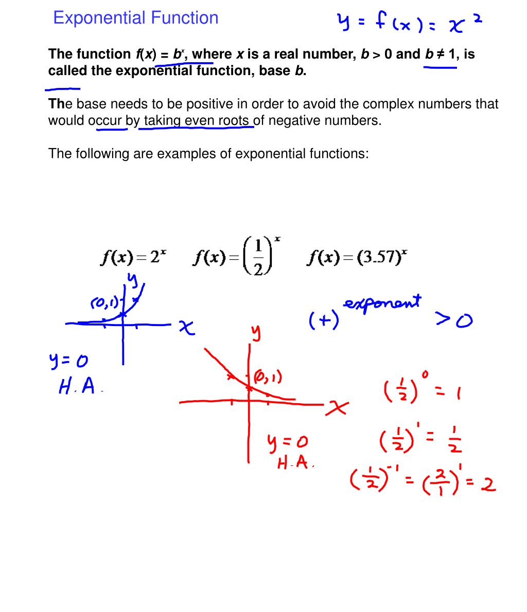 CHAPTER 5: Exponential And Logarithmic Functions And