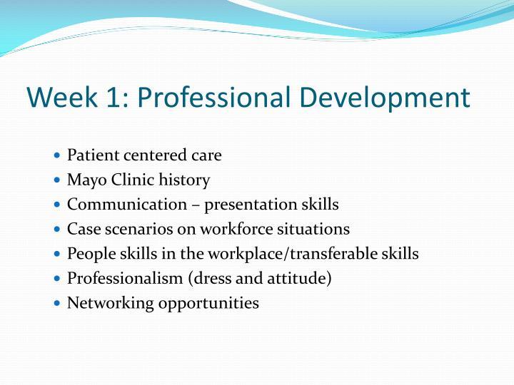 Week 1 professional development