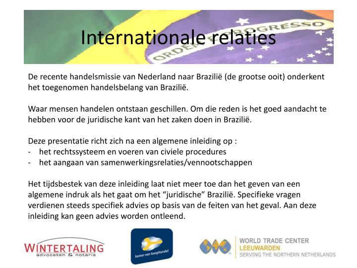 Internationale relaties