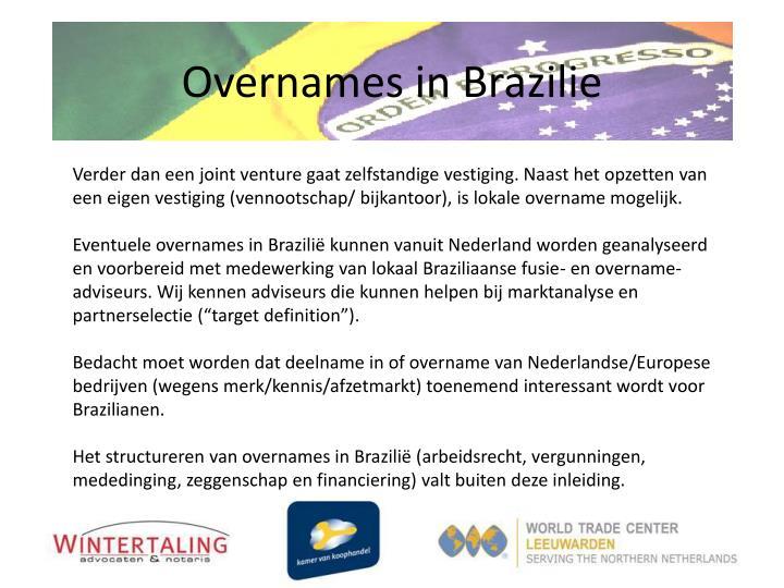 Overnames in