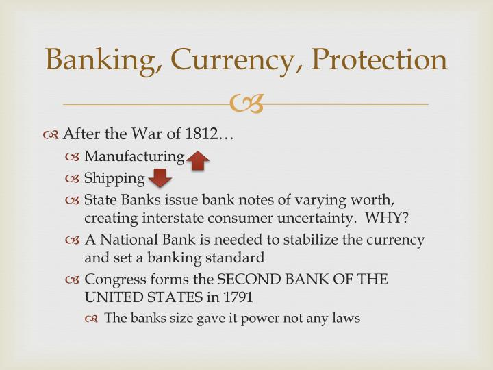 Banking, Currency, Protection