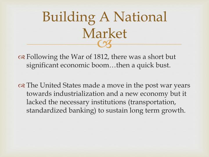 Building a national market
