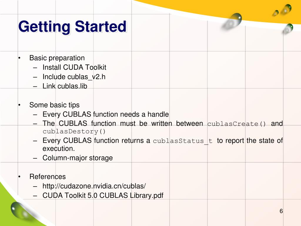 PPT - CUBLAS Library PowerPoint Presentation - ID:2517944