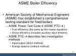 asme boiler efficiency