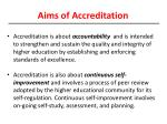 aims of accreditation