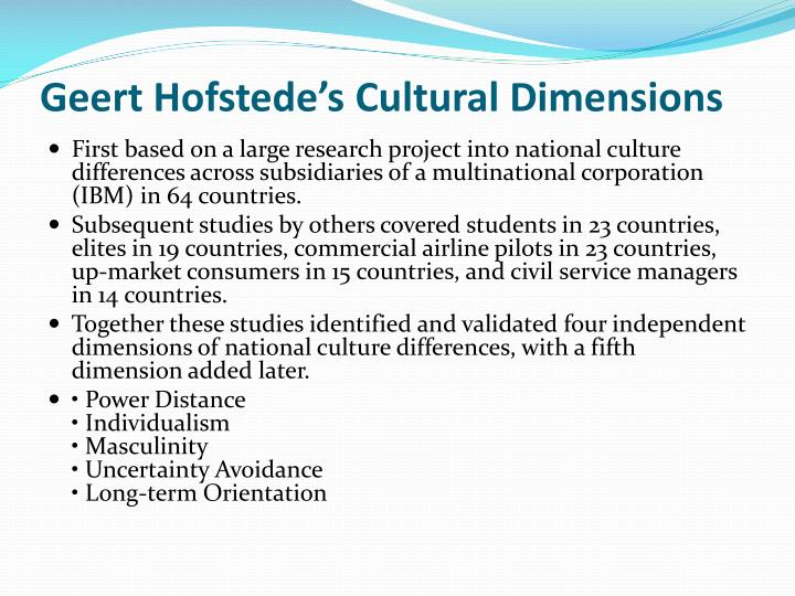 "the summary of geert hofstede Geert hofstede, a widely known dutch researcher of culture, has defined culture as ""the collective programming of the mind which distinguishes the members of one."