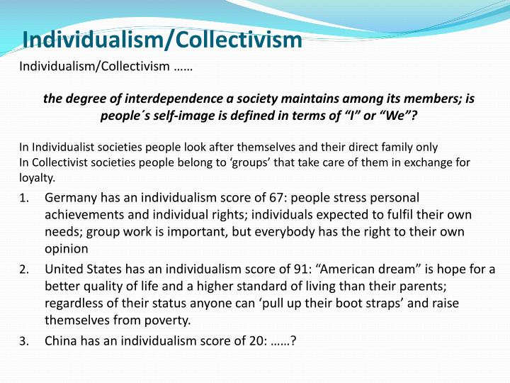 geert hofstede individualism vs collectivism Though the authors admit that they cannot pinpoint the origins of our cultural differences, they do delve into other areas like power distance, individualism vs collectivism, masculine vs feminine, indulgence vs restraint, etc.