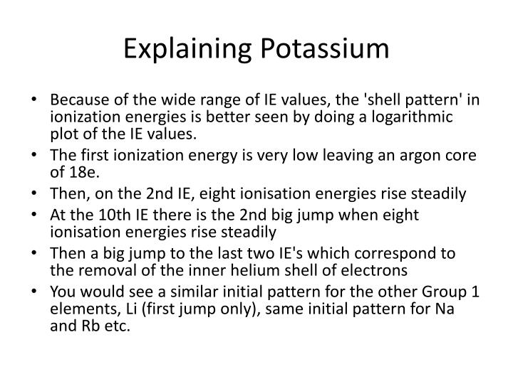 Explaining Potassium