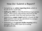 how do i submit a report