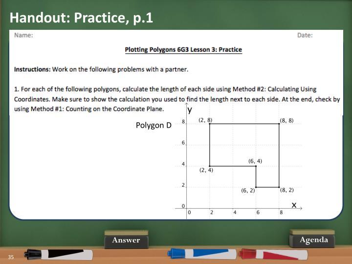 Handout: Practice, p.1