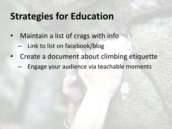 Strategies for Education