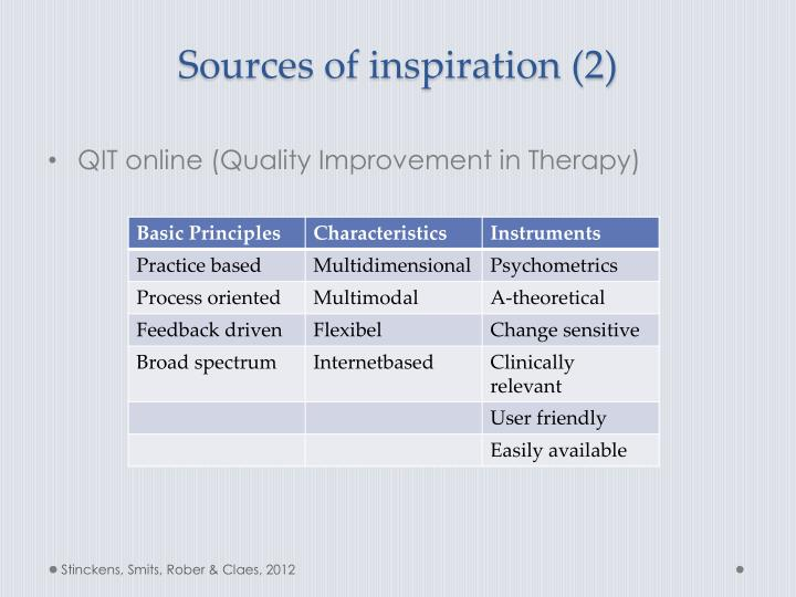 Sources of inspiration (2)