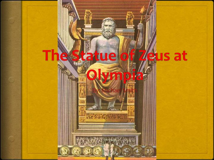 the statue of zeus at olympia n.
