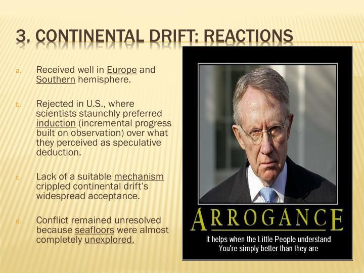 3. Continental Drift: Reactions
