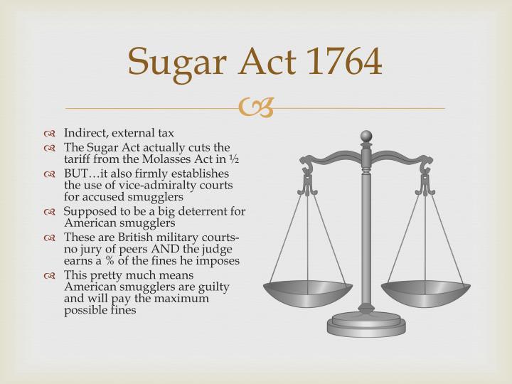Sugar Act 1764