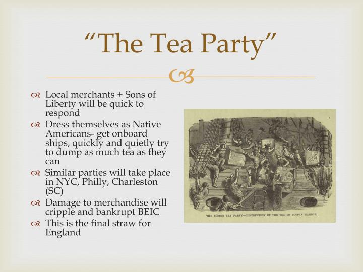 """""""The Tea Party"""""""